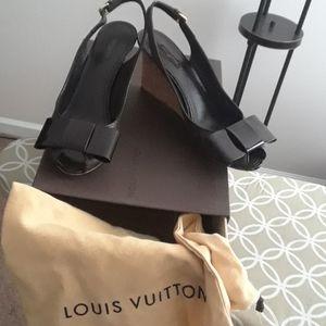 New Authentic Louis Vuitton Monogram Wedges